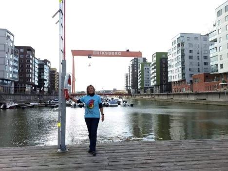 Ana Lopes na Suécia participando do CIRCUITO