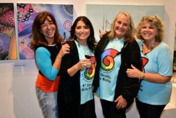 Liesel Rosas, Luciana Fajardo, Fernanda Guimarães e Flory Menezes